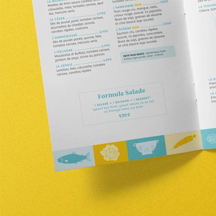 Projet identité visuelle du restaurant Bon Appétit