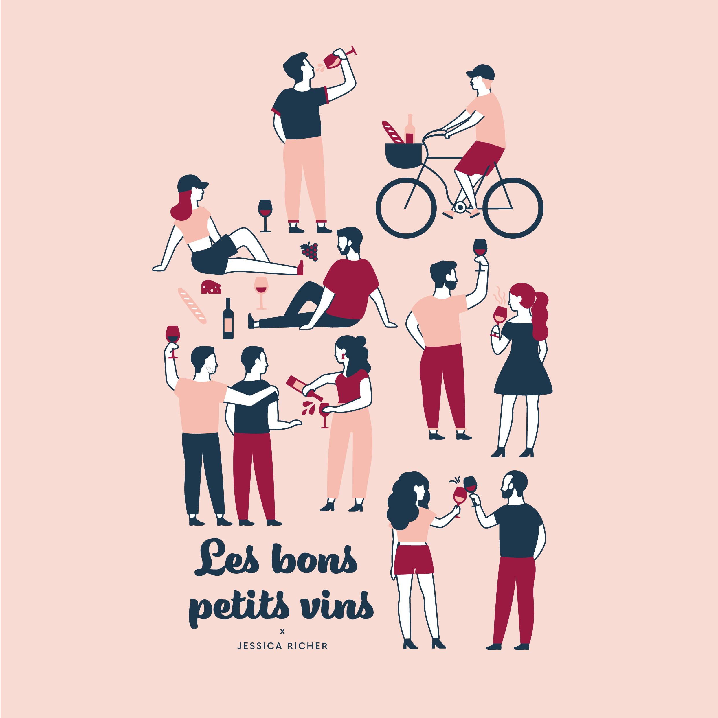 Illustration pour les Bons Petits Vin